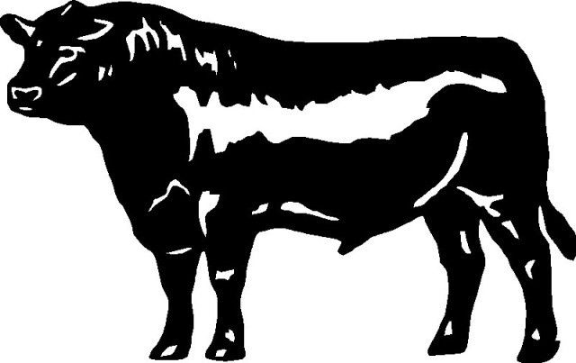 Free Black Angus Bull Silhouette, Download Free Clip Art.