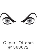 Clipart of Angry Eyes #1.