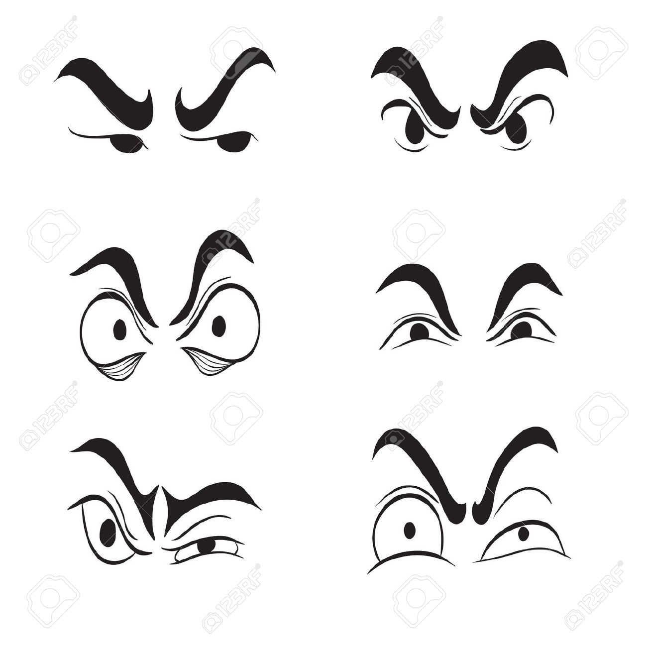 Angry Eye Clipart.