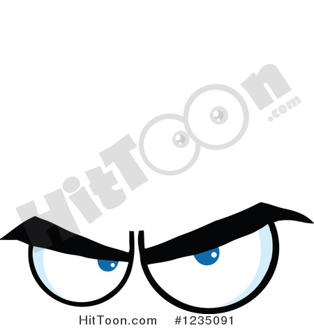 Angry Eyes Clipart #1.