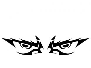 Angry Eyes clip art.