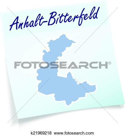 Clip Art of Map of Anhalt.