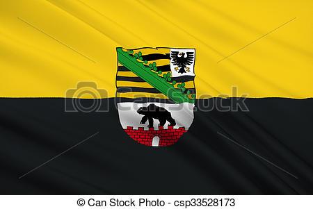 Stock Illustrations of Flag of Saxony.