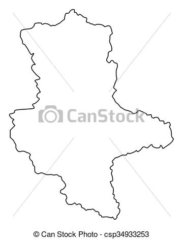 Clipart Vector of Map of Saxony.