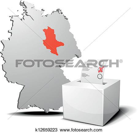 Clipart of vote germany saxony.