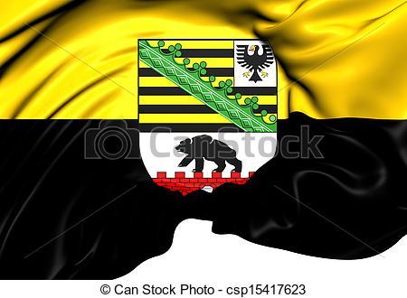 Clip Art of Flag of Saxony.