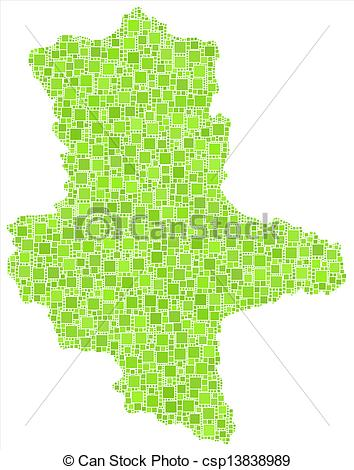 Vector of Map of Saxony Anhalt.