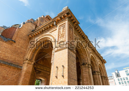 Anhalter Bahnhof Stock Images, Royalty.