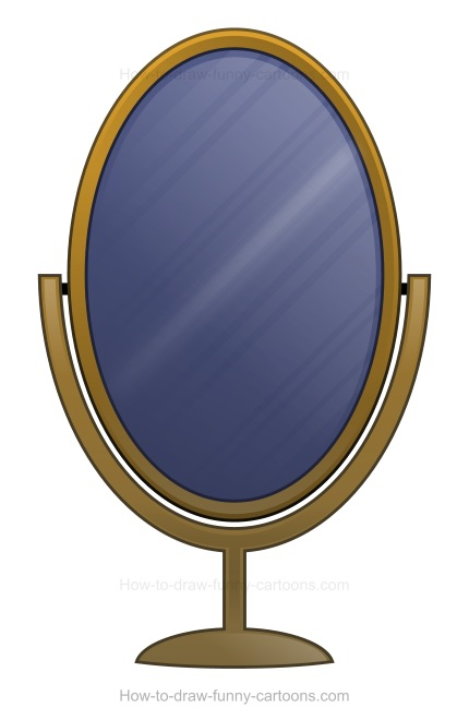 How to Draw A Cartoon Mirror.