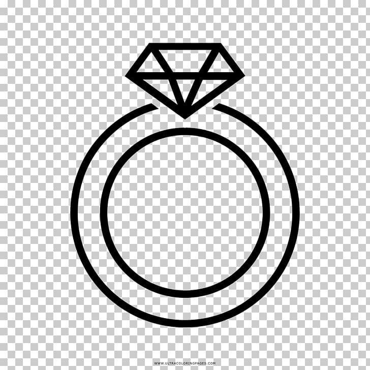 Pendiente anillo de boda dibujo libro para colorear, anillos.