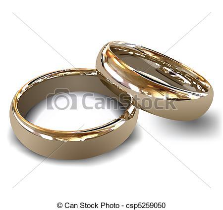 Anillos de boda de oro. vector. Anillos de boda femeninos y.