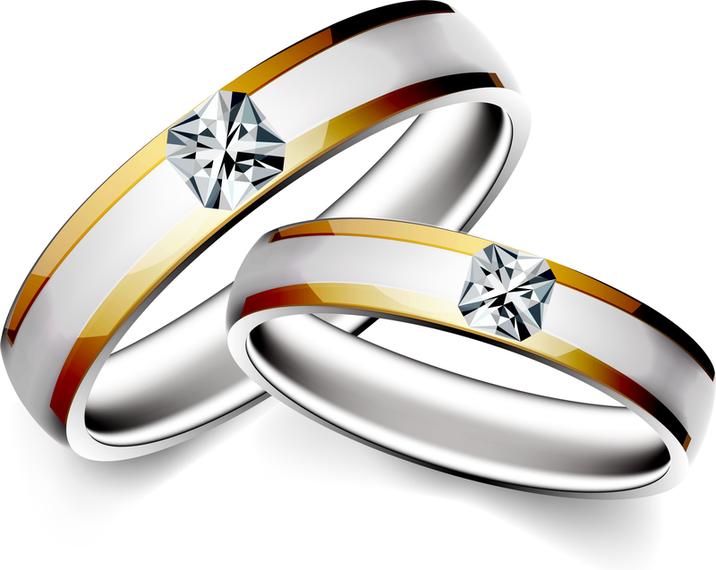Precioso anillo de bodas 04 Vector.