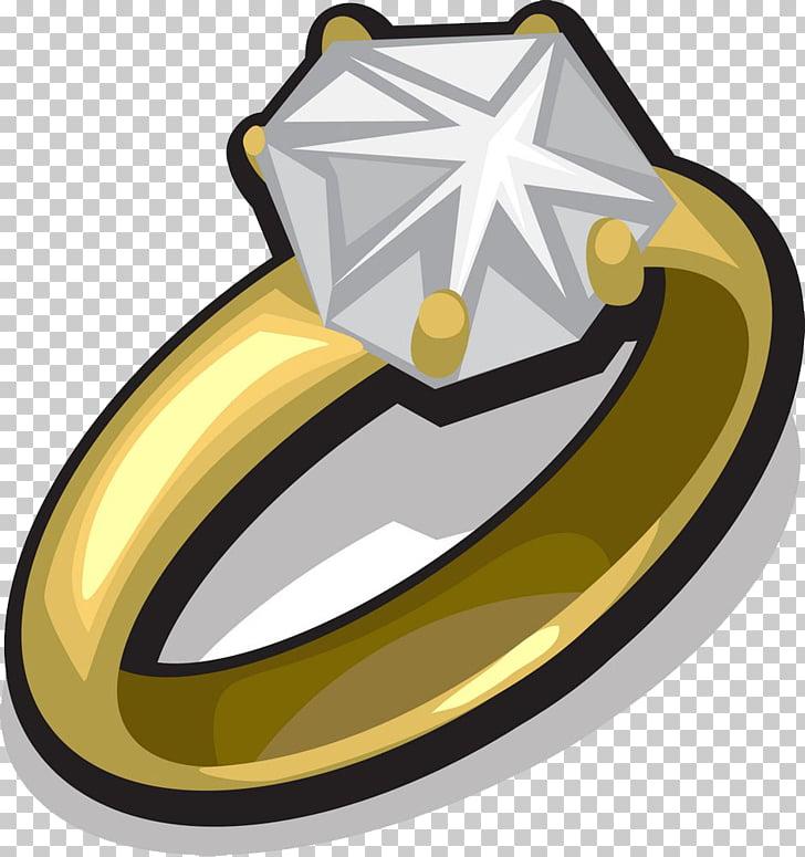 Anillo de diamante dibujo, anillo de oro diamante PNG.