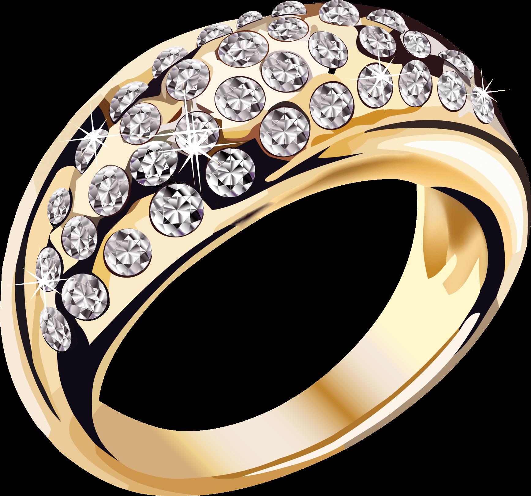 Joyería Anillo de Diamantes de Oro PNG transparente.