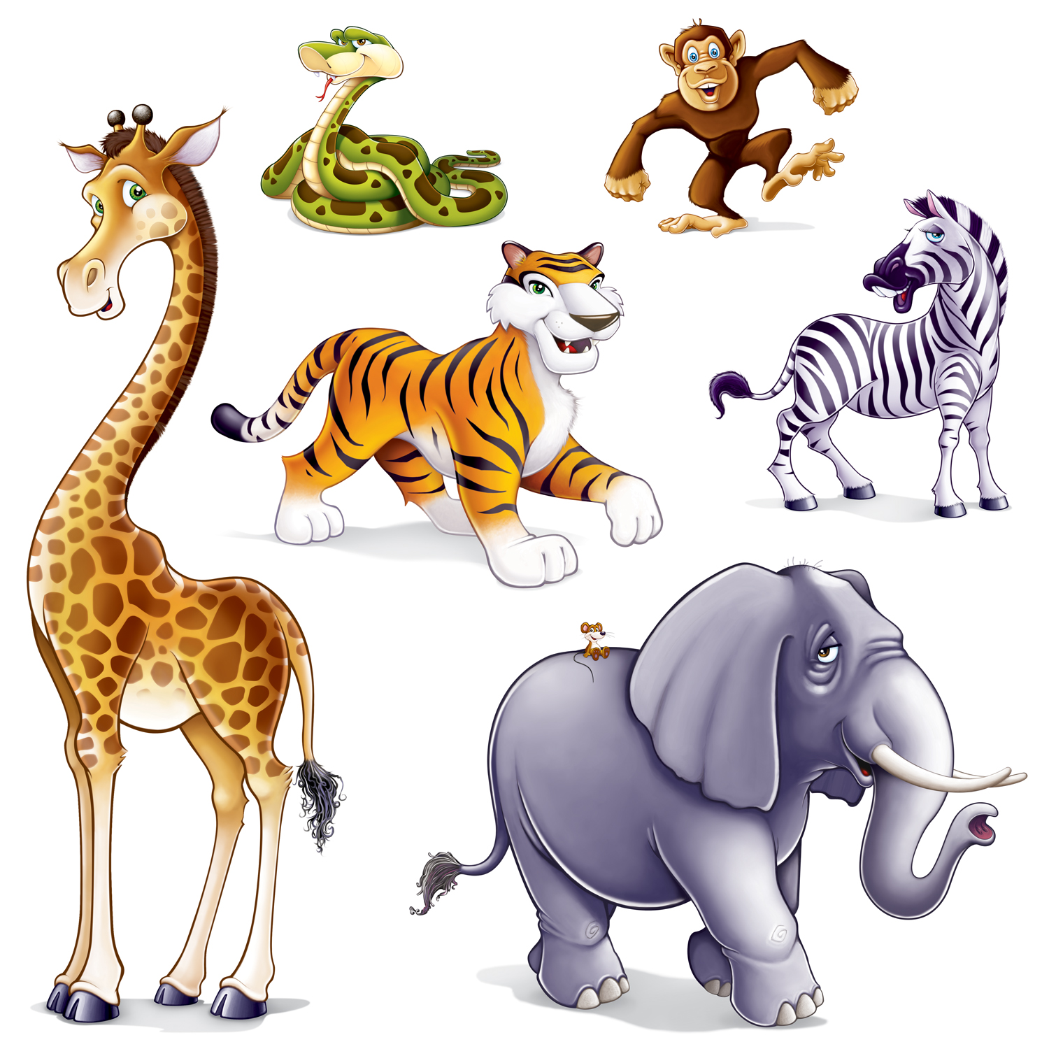 Clip Art Safari Scene Clipart.