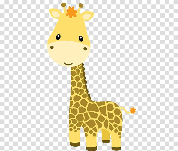 Brown giraffe illustration, Baby Jungle Animals Baby Zoo.
