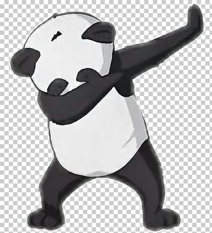 Giant panda Bear Dab Animal, bear PNG clipart.