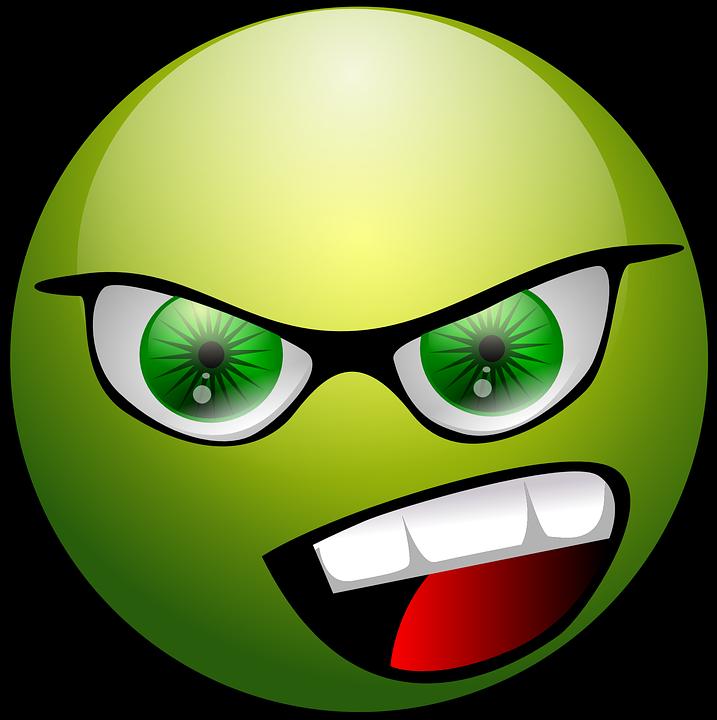 Enojado Cara Emoticon.