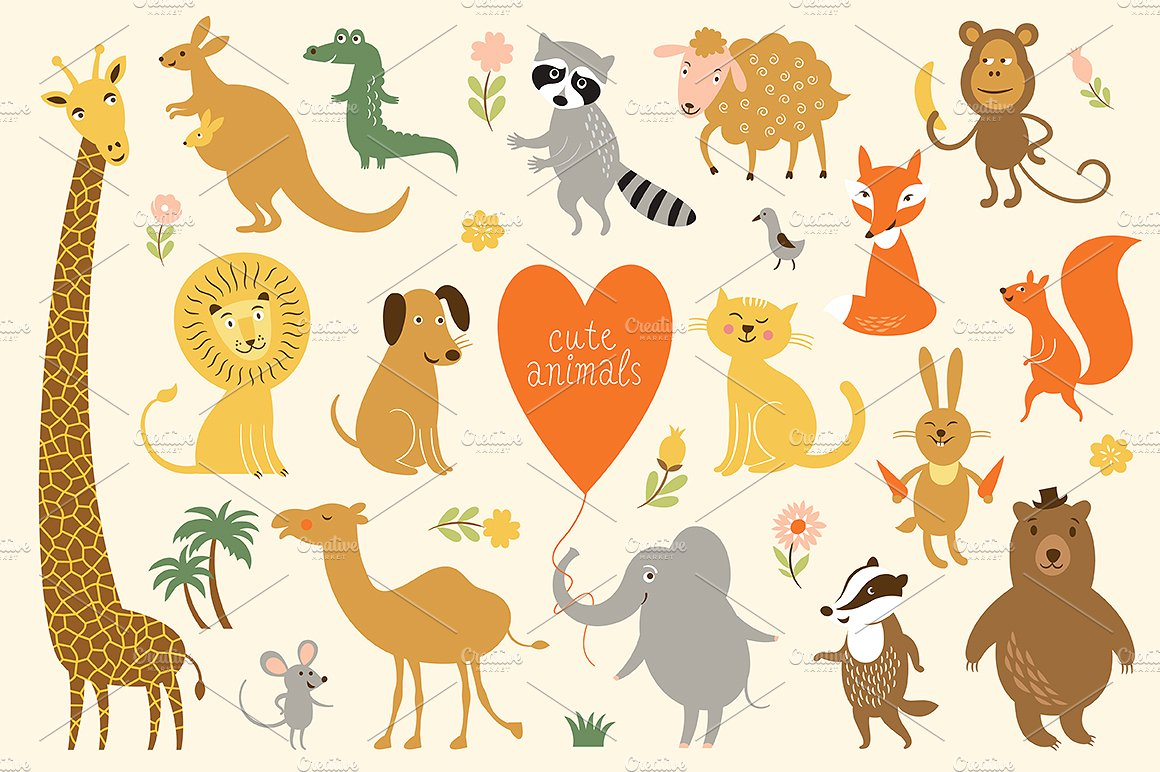 Animal background clipart 3 » Clipart Station.