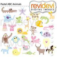 Animal Alphabet Clip art.