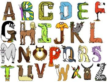 FREE Animal Themed Alphabet Letters.