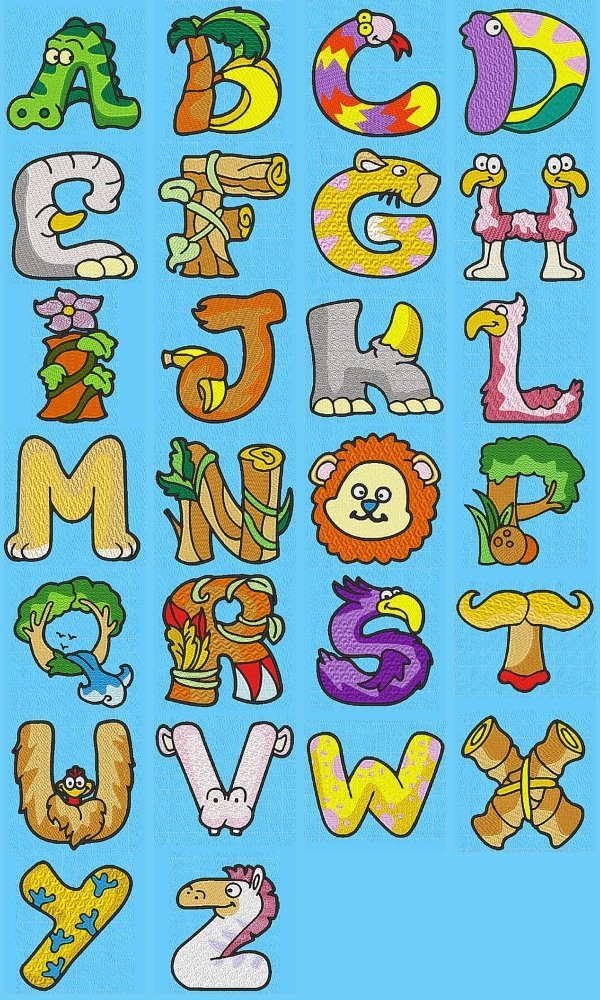 Animal Alphabet Letters Clipart.