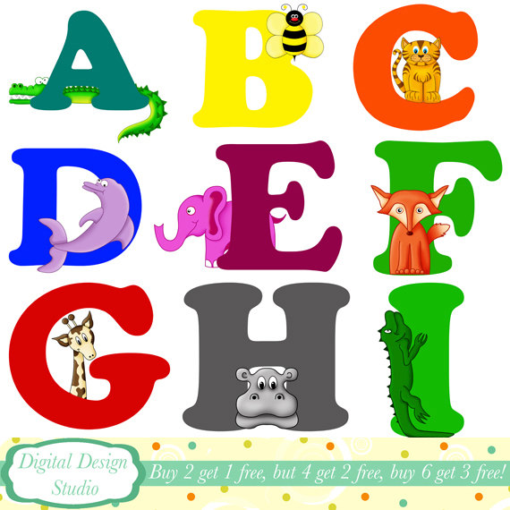 Animal Letter Clipart.