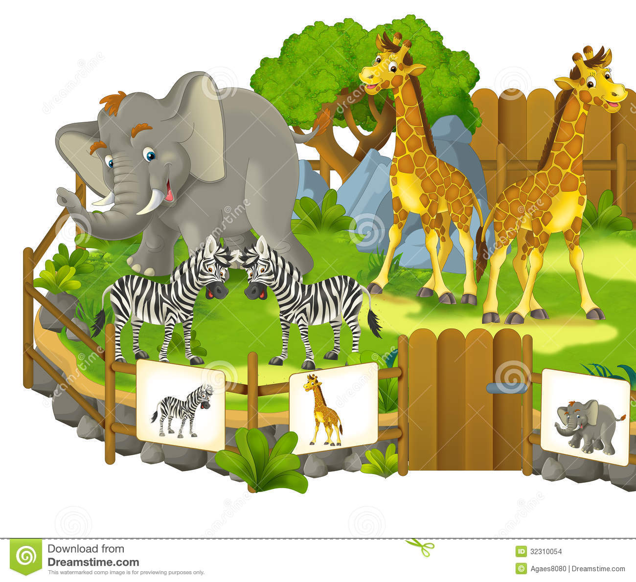 Zoological Park Clipart.
