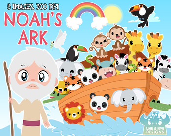 Noah\'s Ark Clipart, Instant Download Vector Art, Commercial Use Clip Art,  Bible.