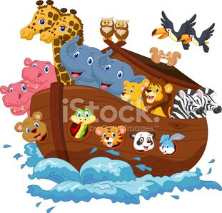 Noah\'s Ark cartoon Clipart Image.