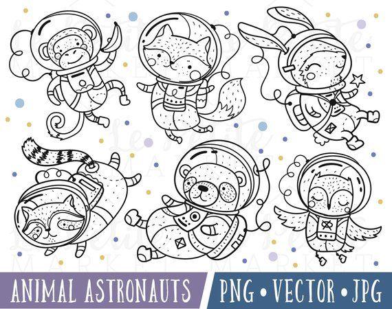 Cute Animal Astronaut Clipart Images, Owl Astronaut.
