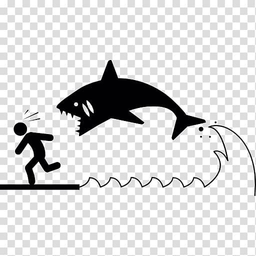 Shark attack Computer Icons, shark transparent background.