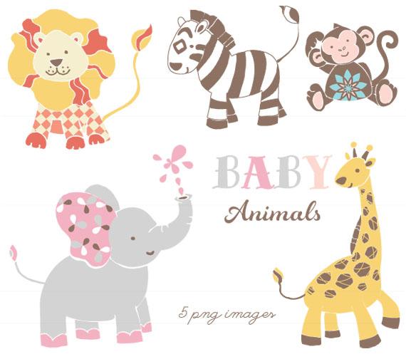 Baby Animal Tutu Clipart.