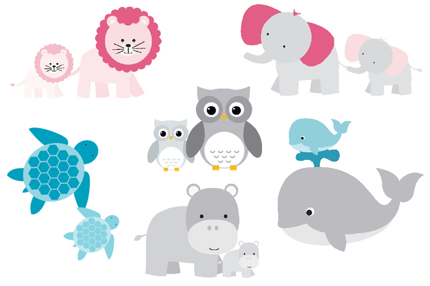 Baby Lion Animal Clipart.