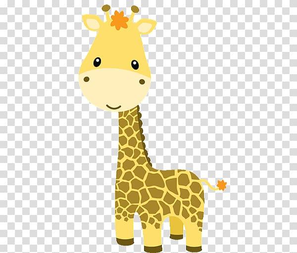 Brown giraffe illustration, Baby Jungle Animals Baby Zoo Animals.