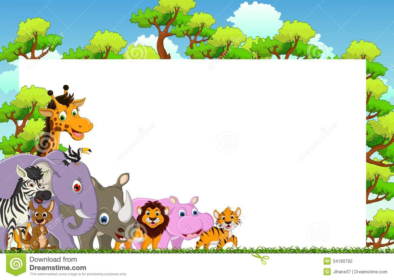 Animal background clipart 4 » Clipart Station.