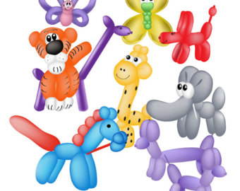 Clipart Balloon Animals.