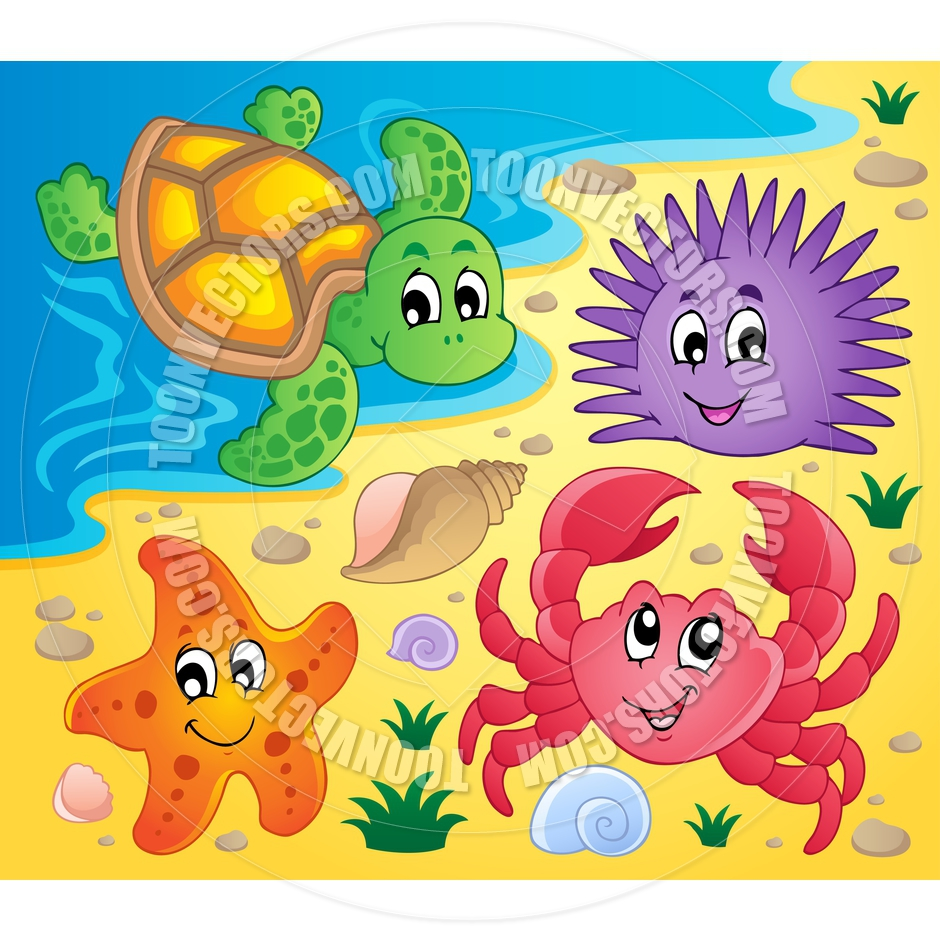 Gallery For > Beach Animal Clipart.