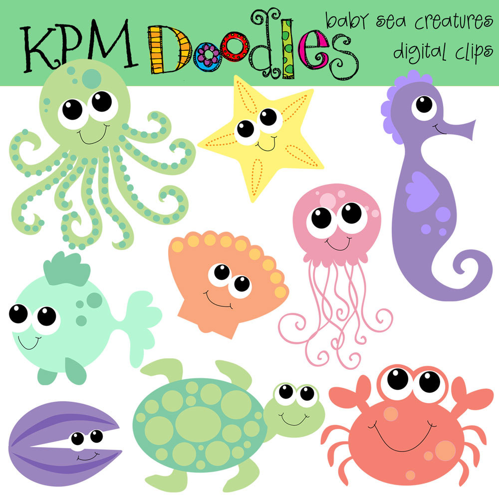 Ocean animal clipart images.