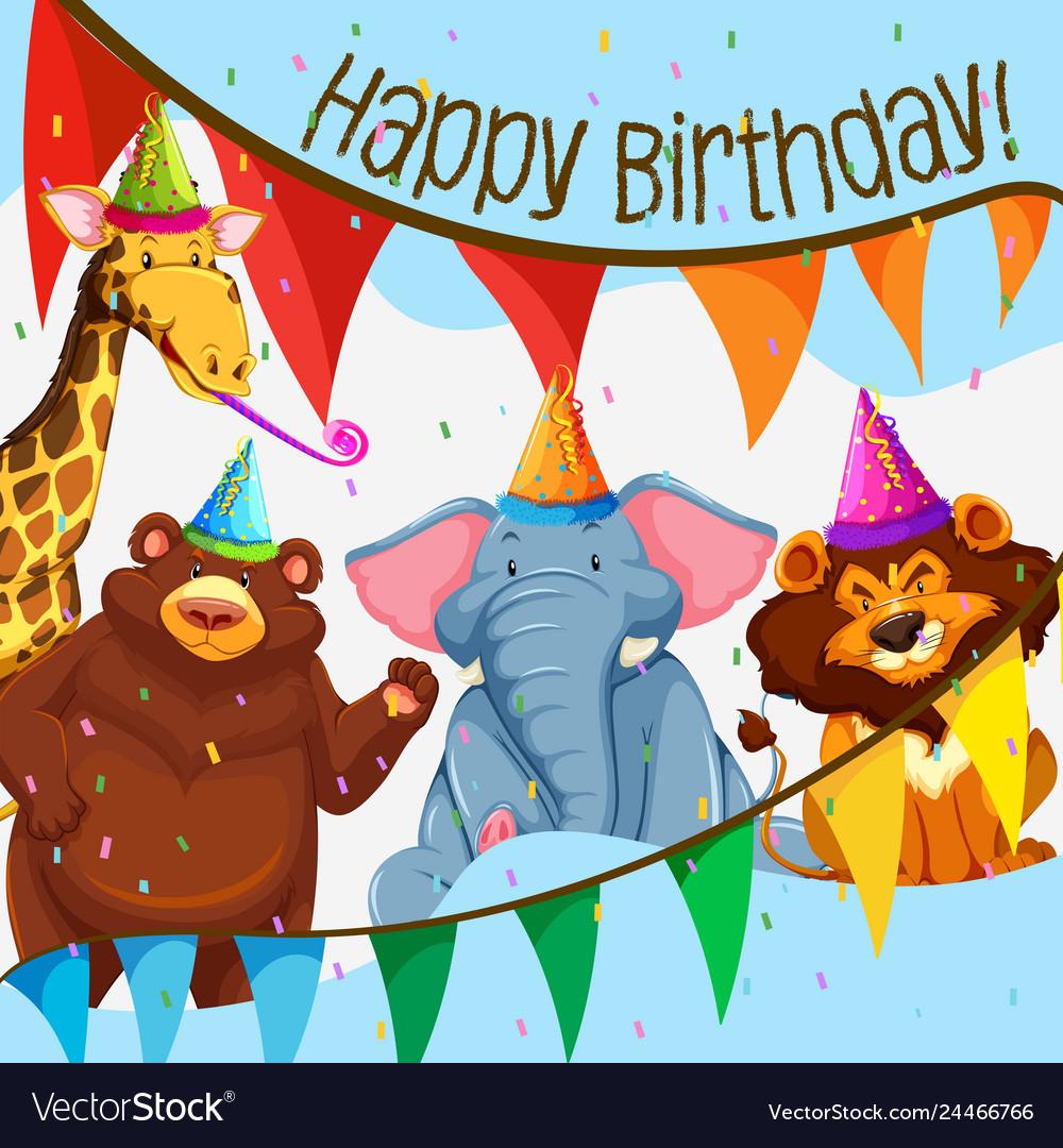 Wild animal birthday party.