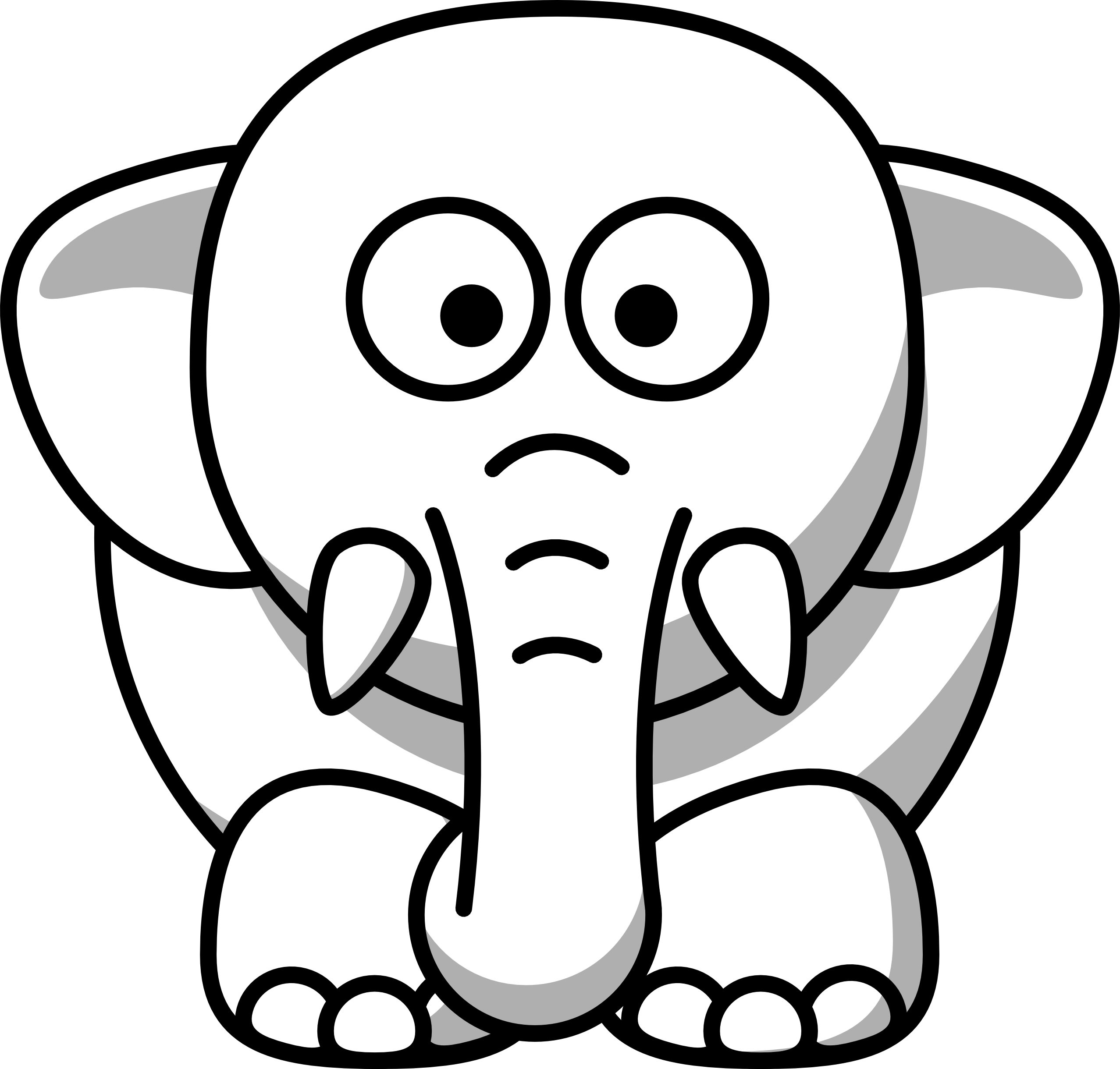 Clipart Animals Black And White.