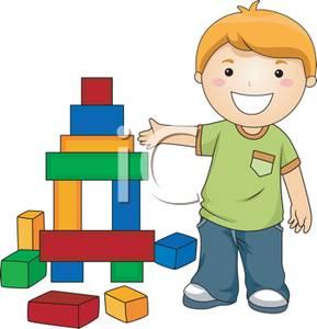 Children Building Blocks Clipart.