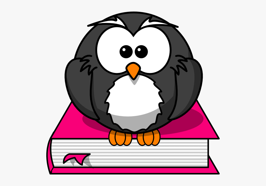 Owl On Books Clipart , Transparent Cartoon, Free Cliparts.
