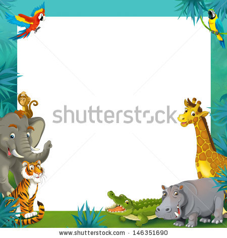 Animal Border Stock Images, Royalty.