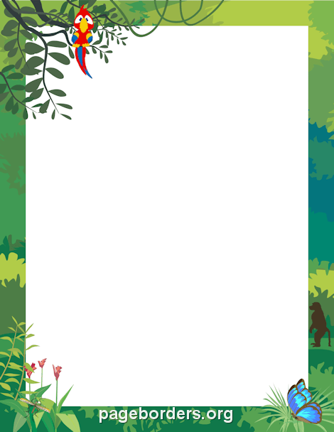 Animal border clipart hd clipground jungle border voltagebd Image collections