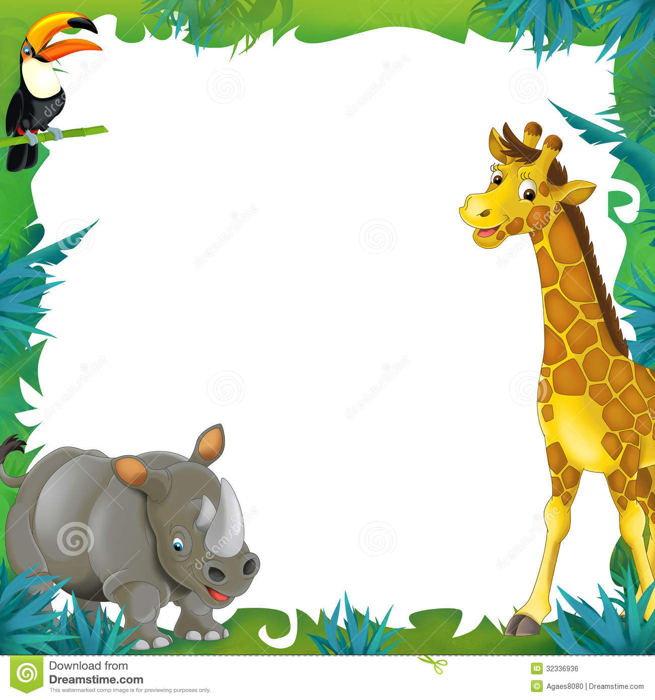 animal border clipart hd #12