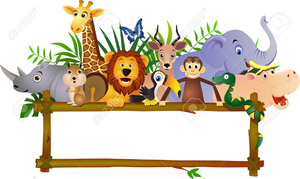 Zoo Animal Clipart Border.