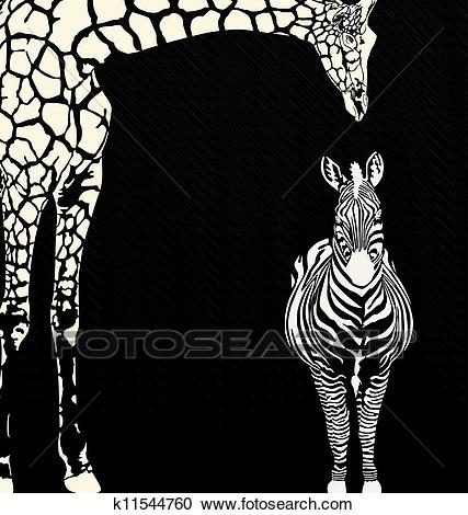 Inverse animal camouflage Clipart.