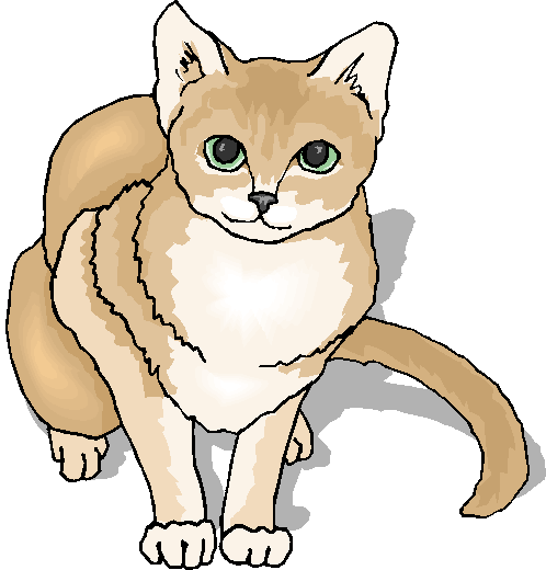 Cute White Cat Clipart.