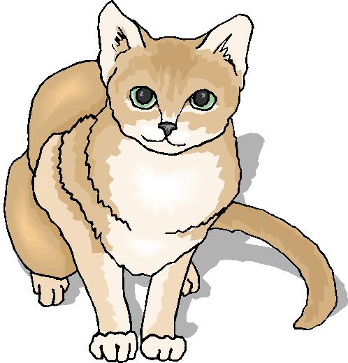 Cute White Cat Clipart.